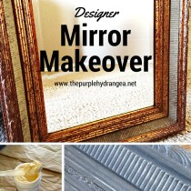 $25 Designer mirror gets a makeover using chalk paint and Miss Mustard Seed's White Wax