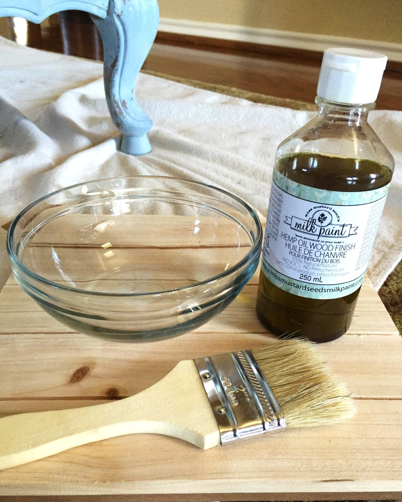 My 5 favorite furniture painting list includes Miss Mustard Seed's Hemp Oil.