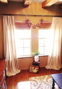 These no sew DIY drop cloth curtains couldn't have been easier.