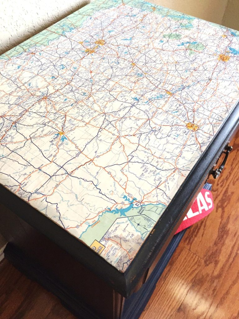 Mod Podge, Maps, and Milk Paint.