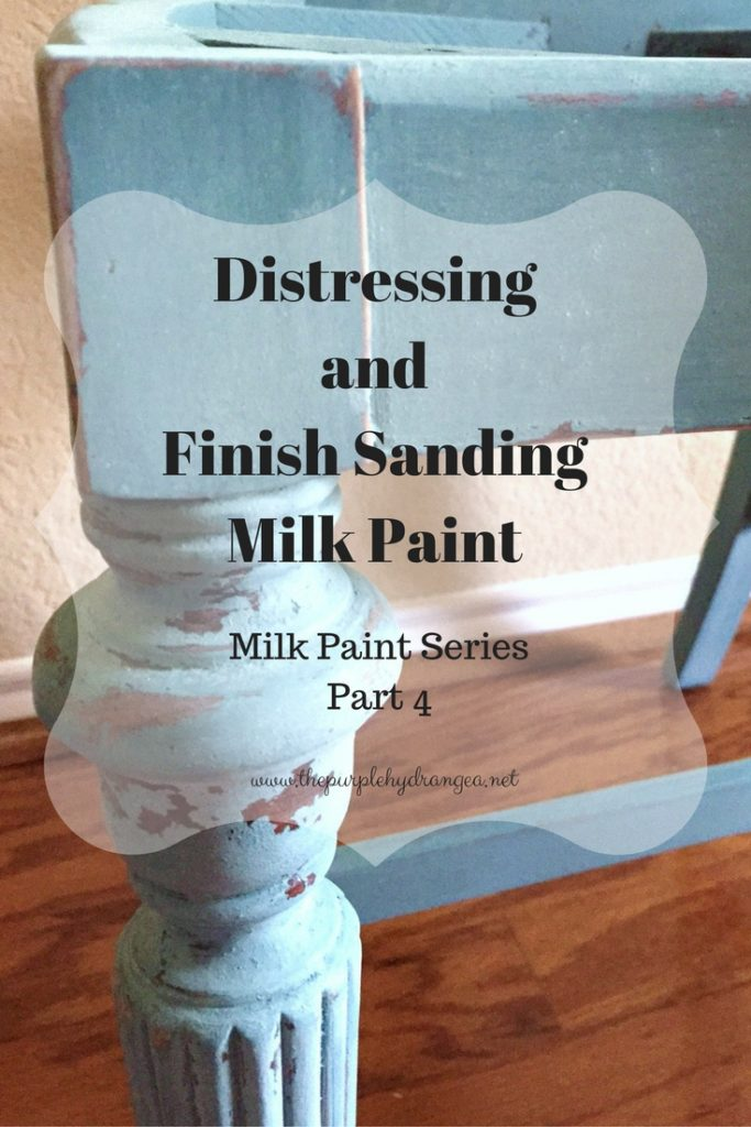 Part 4 of my milk paint series covers how to distress and finish sand Miss Mustard Seed's Milk Paint.