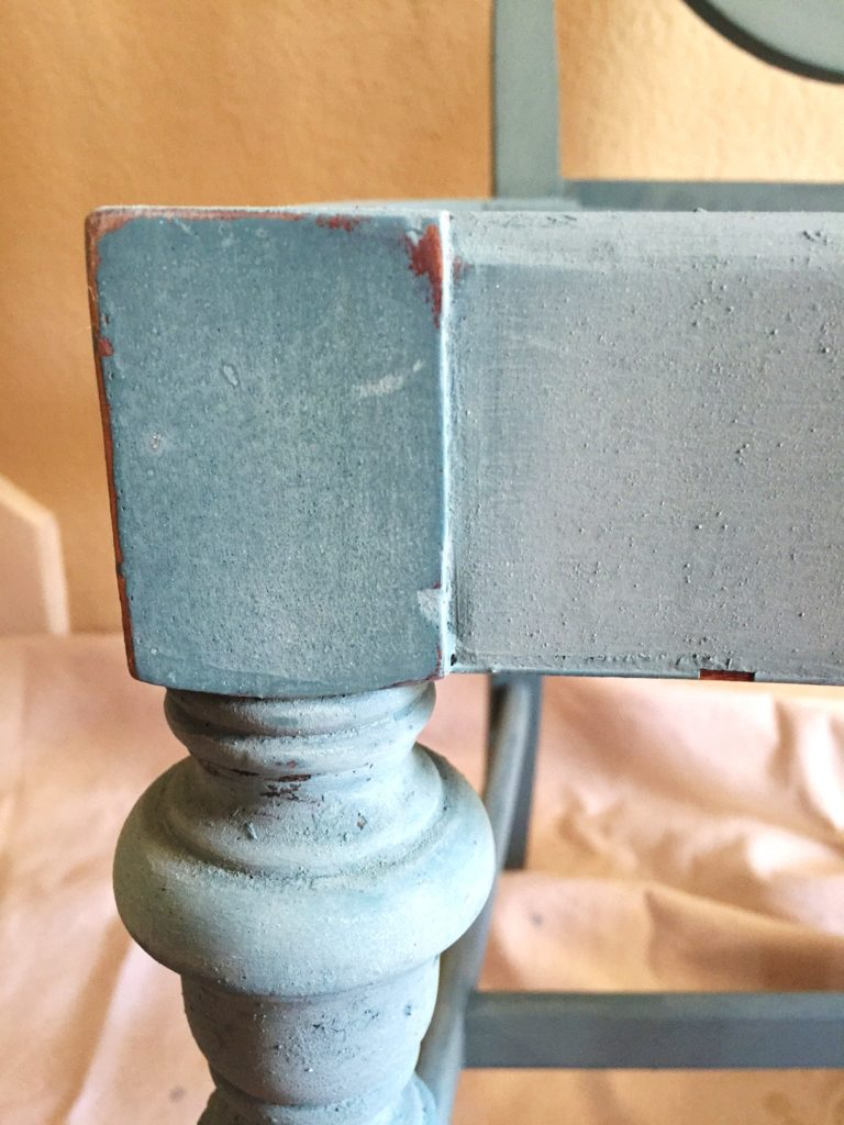 How to finish sand milk paint.