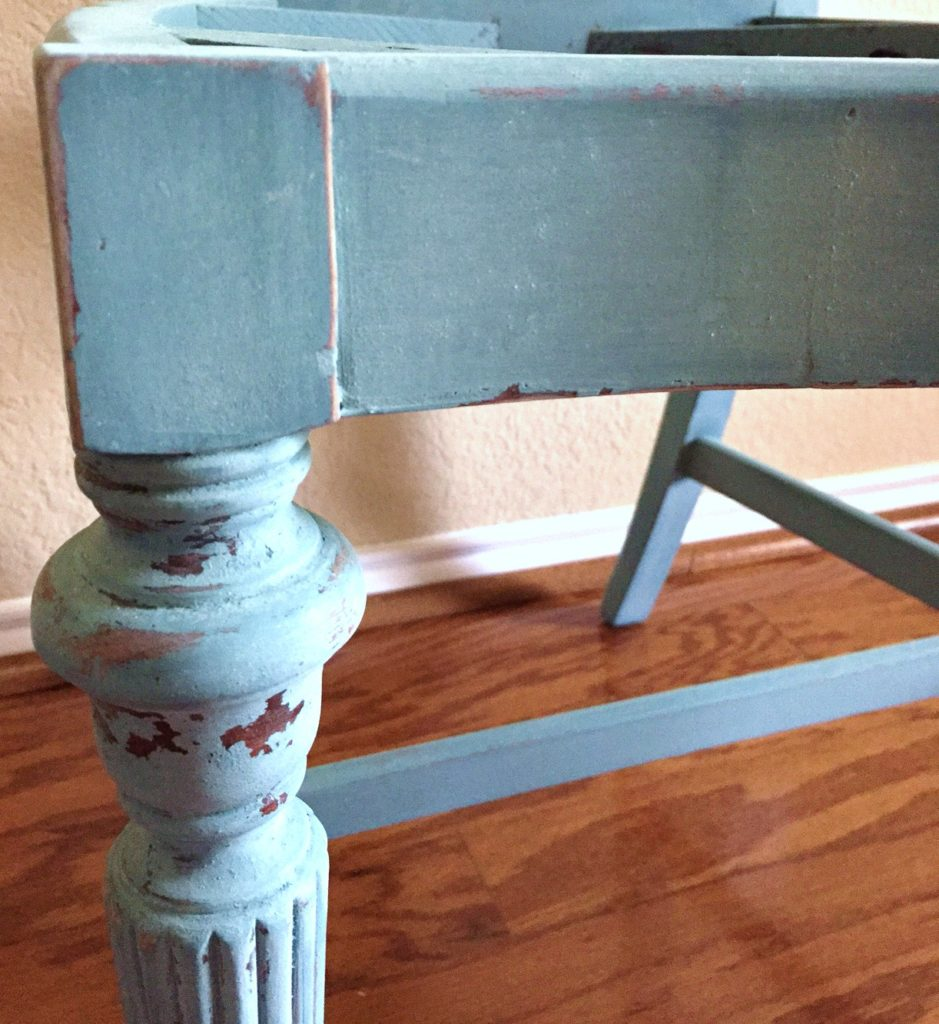 How to finish sand and distress Miss Mustard Seed's Milk Paint.