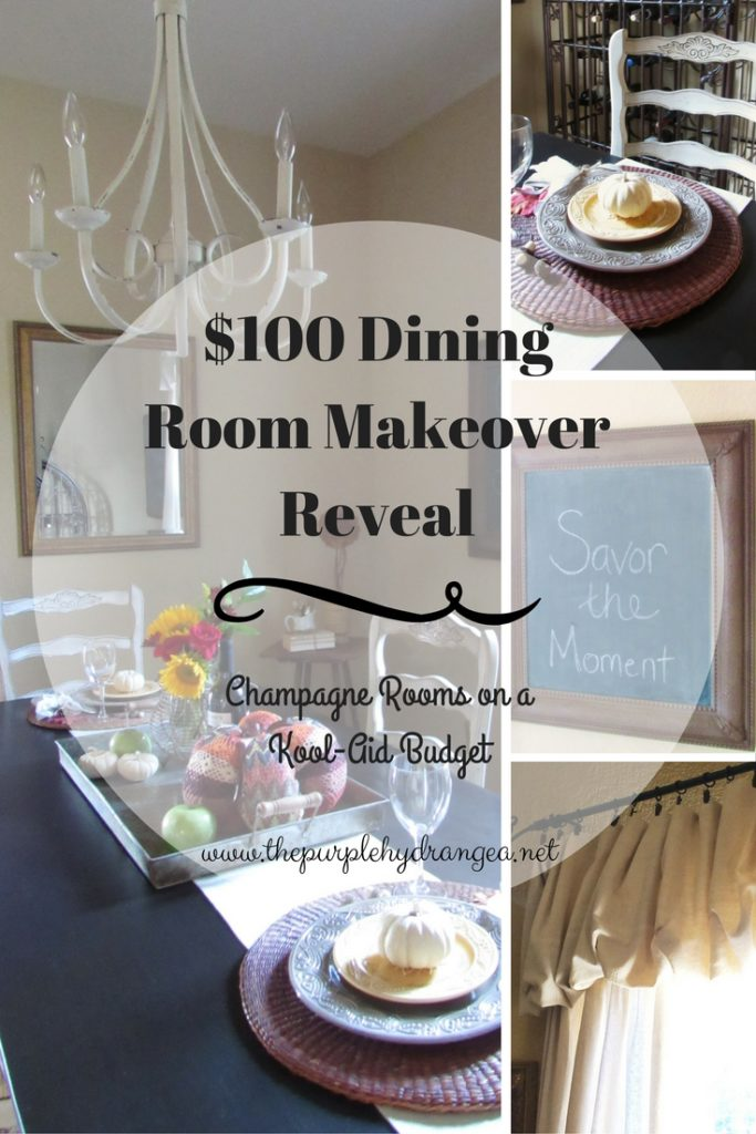 Armed with paint, a sewing machine, and a whole lot of coffee, I gave my dining room a makeover with a budget of only $100.