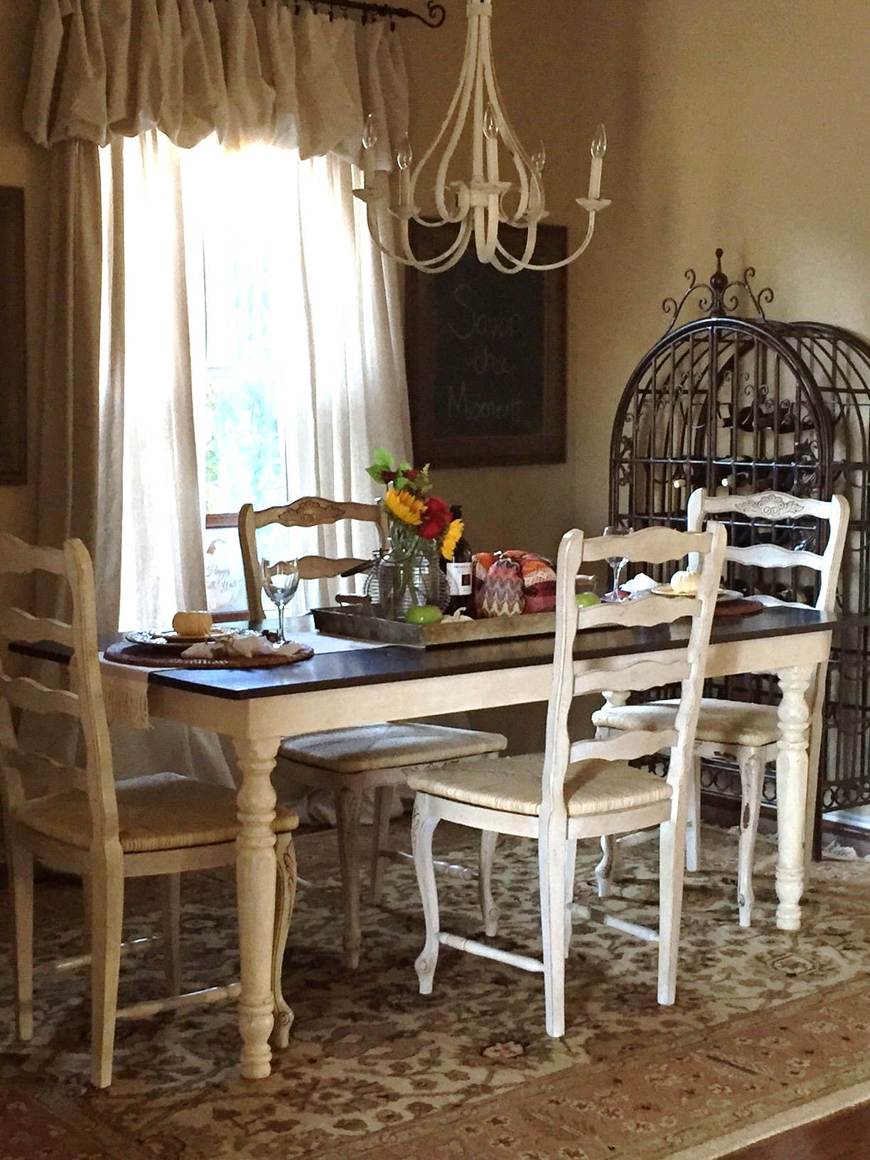 My 100 dining room makeover reveal the purple hydrangea for My dining room