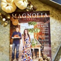 The premier issue of The Magnolia Journal is beautiful and inspirational.
