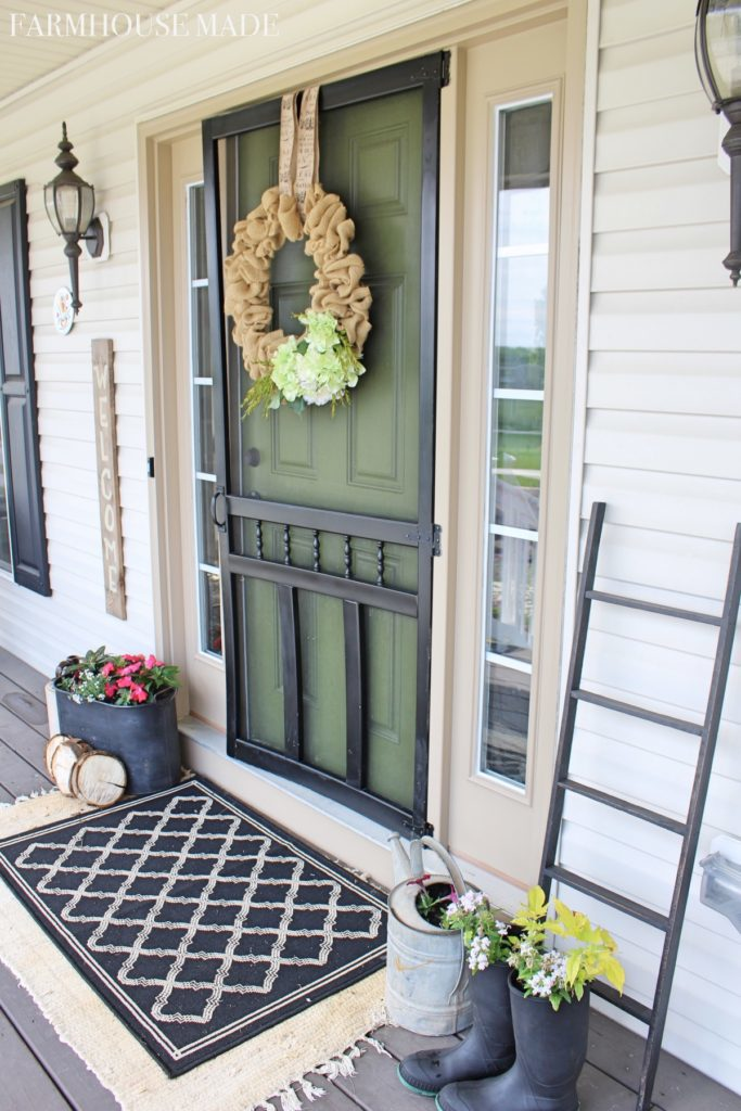 This amazing front door was painted using an 8 ounce sample paint color by Behr.