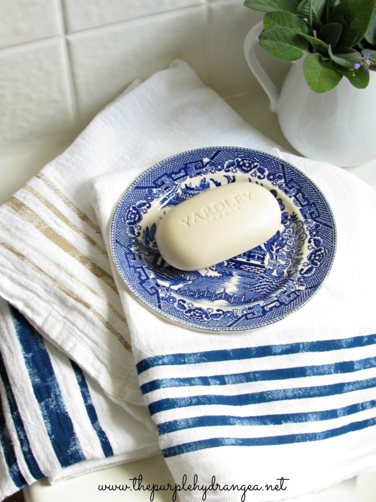 These DIY grain sack stripe towels couldn't be any easier make and they are so budget friendly