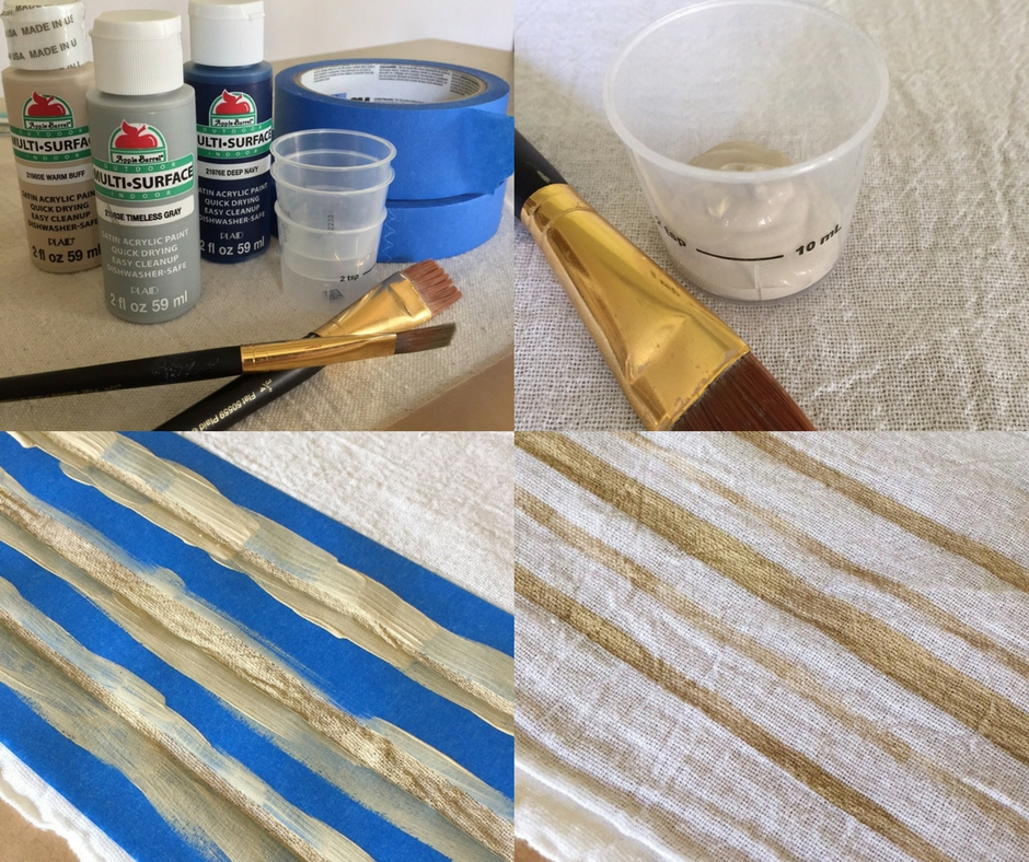 You only need a few supplies to create your own DIY grain sack stripe towels for under $10.