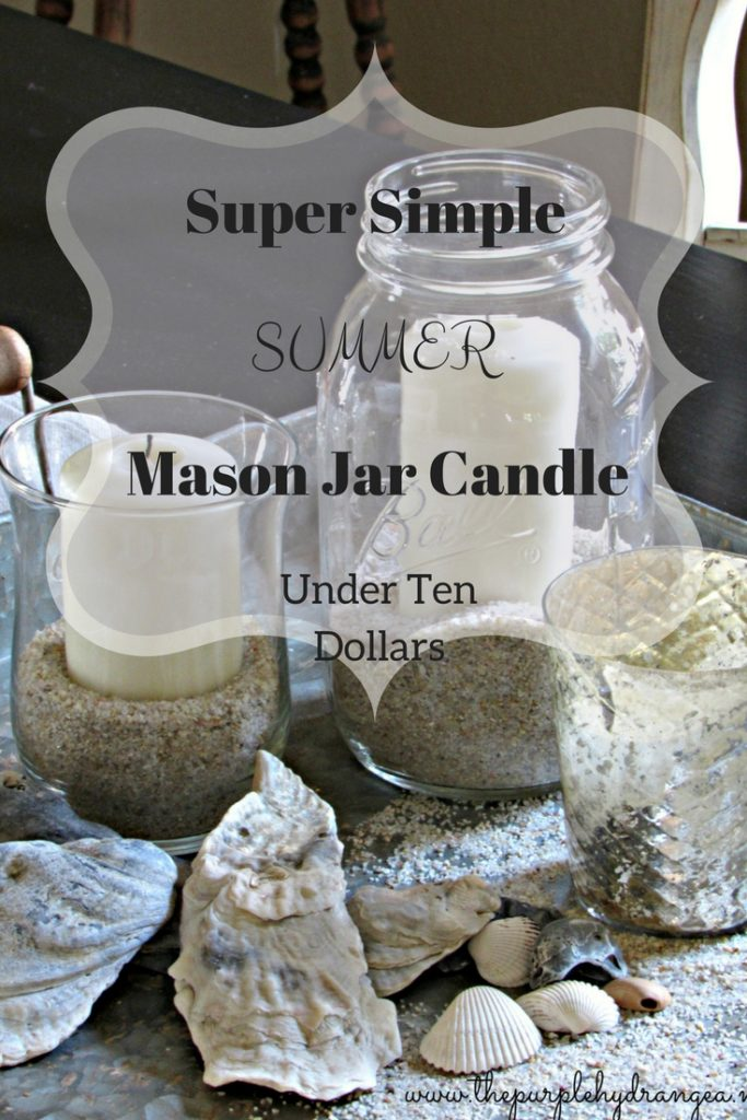If you're looking for a simple summer decor idea, look no further. My simple summer mason jar candle is under $10 and ridiculously easy to make.
