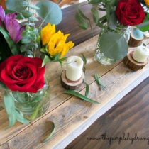 My reclaimed wood table runner was inspired by the new book written by KariAnne Wood of Thistlewood farm.