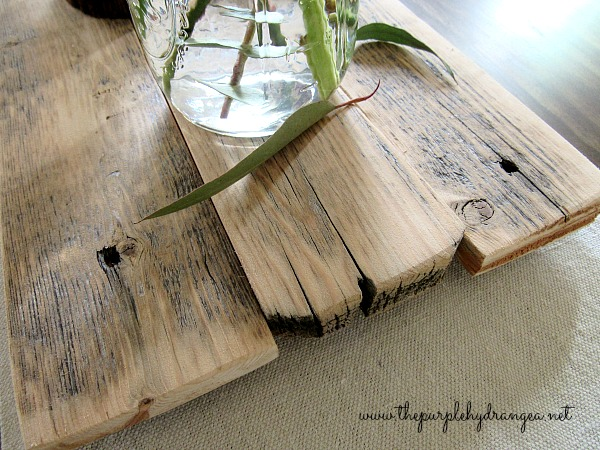 My reclaimed wood table runner is so close to amazing in all it's imperfect glory.