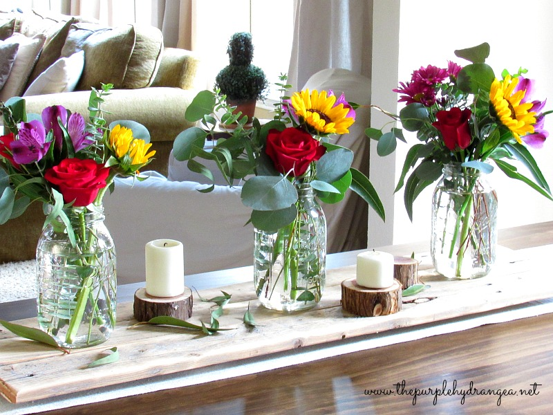 This reclaimed wood table runner was inspired by a DIY project from KariAnne Wood's new book titled; So Close to Amazing. It's a must read.