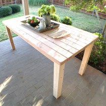 Rustic farmhouse table built using only 2 x 4s.