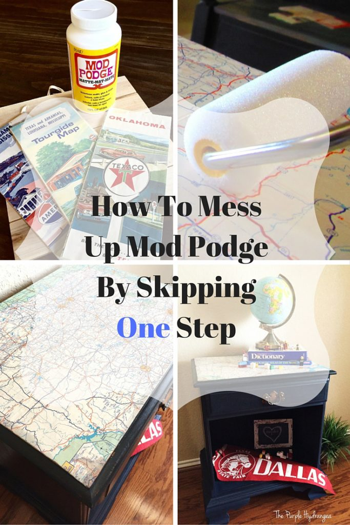 I learned the hard way how easy it is to mess up Mod Podge by skipping one very important step. Don't let this happen to you!