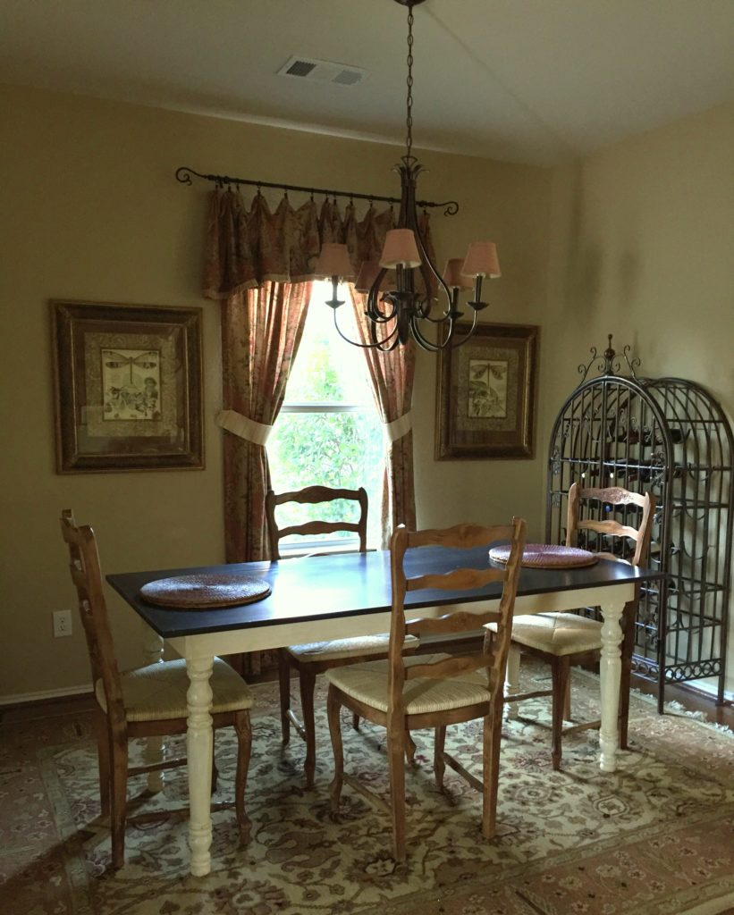 Here'a preview of my dining room makeover and the $100 Room Makeover Challenge.