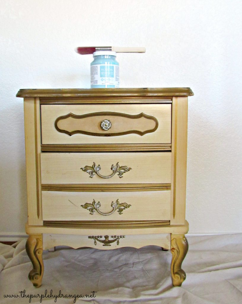 Join me on Facebook live as I take you through the process of painting this French Provincial nightstand from start to finish.