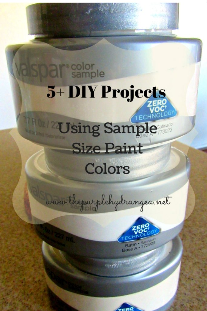 You might be surprised just how far an 8 ounce sample size paint color will go. Here's 5+ great ideas to inspire you.