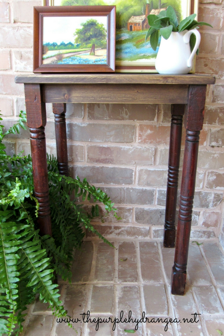 Building a DIY farmhouse style table is actually easier than you might think. All you need are a few woodworking supplies, scrap wood, and some cool legs.