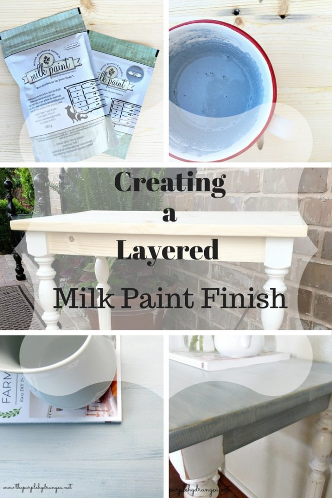 Creating a layered milk paint finish is so simple. Just mix, paint, sand, seal.