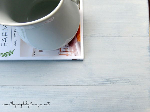 Creating a layered finish with Miss Mustard Seed's Milk Paint using shutter gray and grain sack was so easy and the finish turned out perfect.