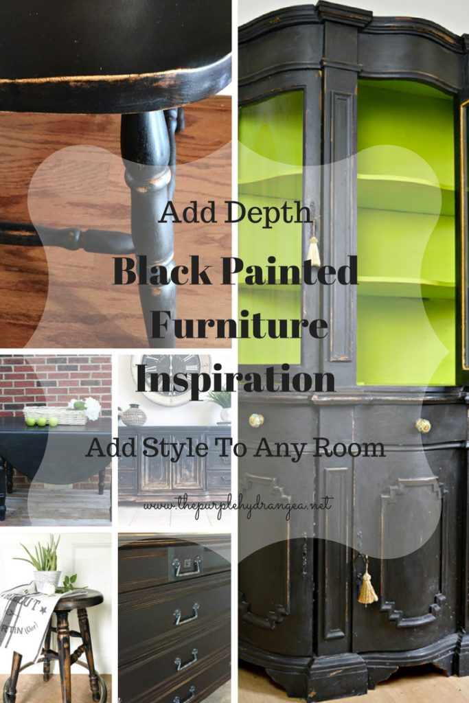 Black painted furniture adds depth, warmth, and character to any space. It's a classic look that lends itself to any style decor.