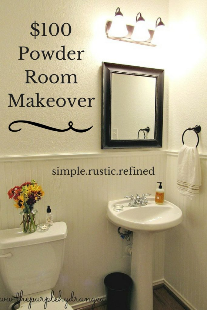 This powder room makeover happened in just 48 hours and came in under budget. The new wall color is the star of this show.