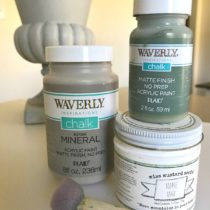 You can create an aged finish quickly and easily using Waverly Chalk Style paints.