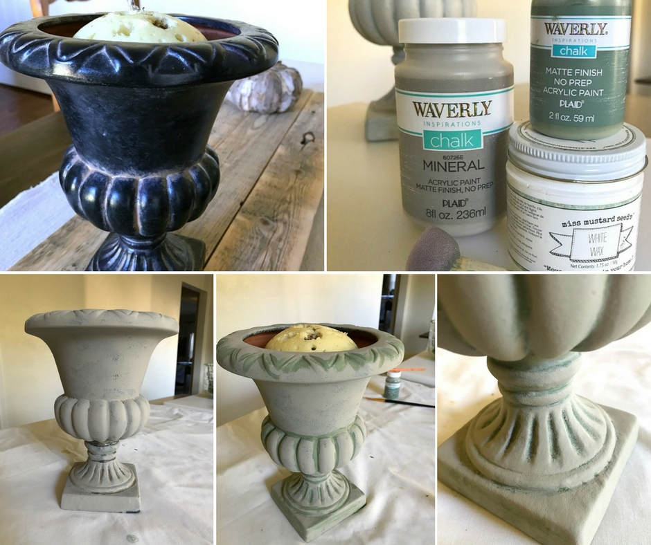 Creating an aged finish using Waverly Chalk style paints couldn't be any easier.