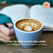 Starting October 1st hundreds of writers will accept the challenge to write every day for the entire month. I hope you join me for my Kitchen Makeover in 31 Days.